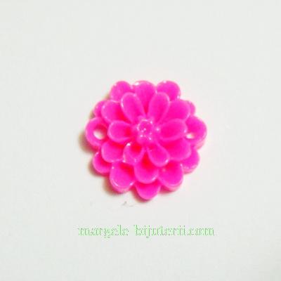 Cabochon/link rasina, floare fucsia, 14x5 mm 1 buc