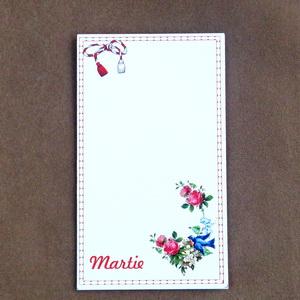Carton martisor, trifoi si buburuza, 9.2x5.2cm 10 buc