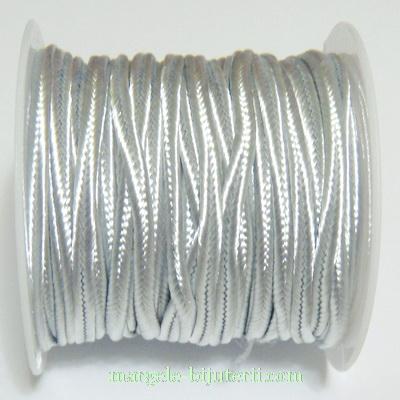 Snur Soutachee argintiu, latime 2.5mm 1 rola 4 m