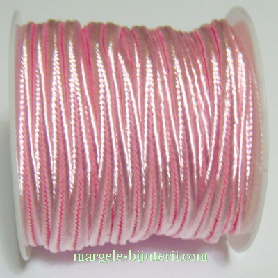 Snur Soutachee roz deschis, latime 2.5mm, rola 4 metri 1 buc