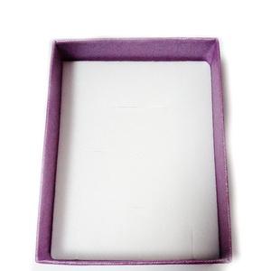 Cutie cadou violet, cu fereastra, 85x65x25mm 1 buc