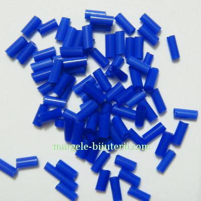 Margele tubulare, opace, albastru-cobalt, 4.5mm 20 g