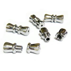 Inchizatoare cu filet, argintiu inchis, 12x5mm 1 set