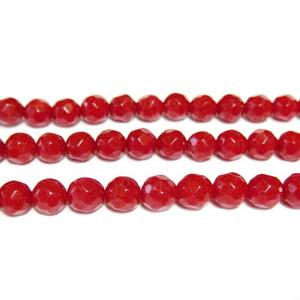 Coral rosu, multifete, 4mm 1 buc