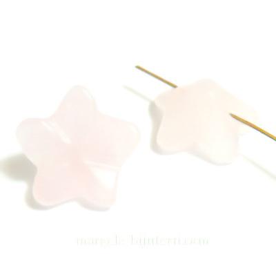 Floare cuart roz, cu 5 pelate, 16x7mm 1 buc