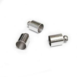 Capat prindere snur, argintiu inchis, 10x6mm, interior 5.5mm 1 buc