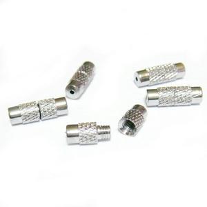 Inchizatoare cu filet, argintiu inchis, 13x4mm 1 set