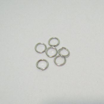 Zale simple argintiu-inchis,  5mm, grosime 0.8mm 100 buc