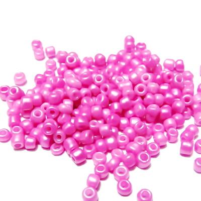 Margele nisip, roz, perlate, 3mm 20 g