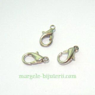 Inchizatoare ovala, argintiu inchis, 12x5mm 10 buc