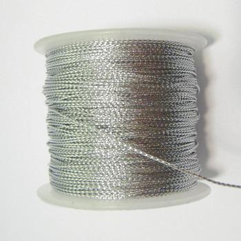 Fir lurex argintiu, 0.5mm 5 m