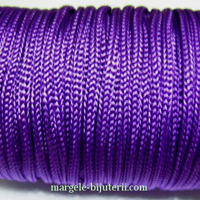 Snur violet, rasucit, 3mm 1 m