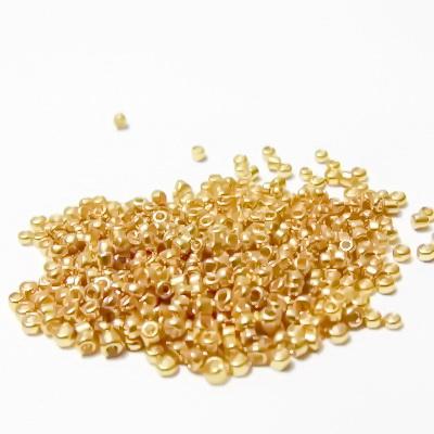 Margele nisip, aurii, metalizate, 2mm 20 g