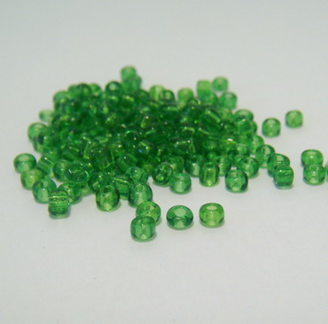 Margele nisip, verzi, transparente,3mm 20 g