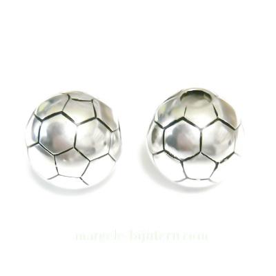Margele plastic, placate argintiu( CCB), sferice, 20mm 1 buc