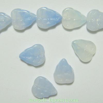 Frunzulite sticla Cehia, albastru deschis, 11x9x3mm 1 buc