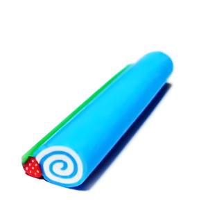 Bete fimo, albastre cu spirala, 8x12mm, lungime 5cm 1 buc