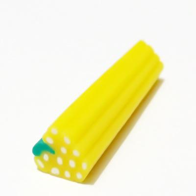 Bete fimo, zmeura galbena, 10x10mm, lungime 5cm 1 buc