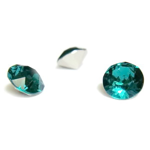 Swarovski Elements, Xirius Chaton 1088-Emerald SS29, 6mm 1 buc