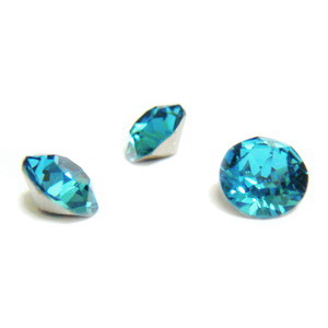 Swarovski Elements, Xirius Chaton 1088-Indicolite SS29, 6mm 1 buc