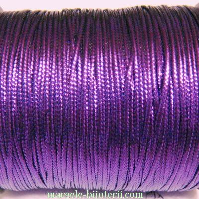 Fir lurex violet, plat, 1mm 5 m