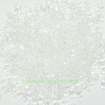 Margele nisip, Rocaille Preciosa 11/0-2mm, transparente 20 g