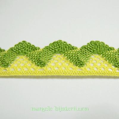 Dantela galben-kaky, 15-20mm, cu adeziv 95 cm