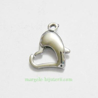 Inchizatoare otel inoxidabil 304, inima 15x8.5mm 1 buc