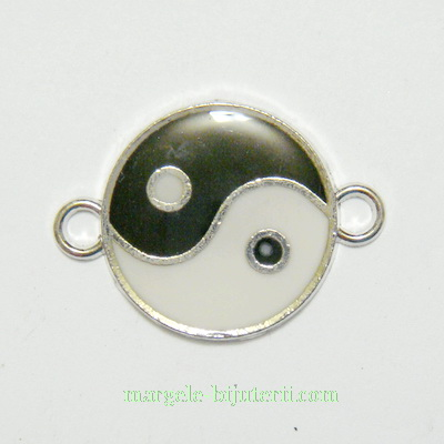 Conector/link emailat, Yin-yang, 29x21x2mm