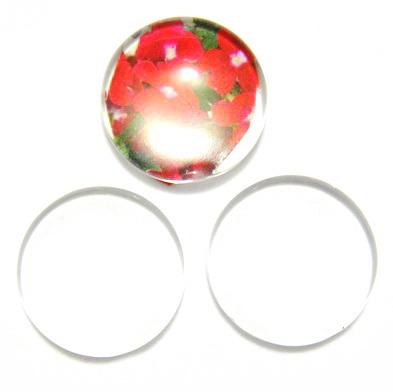 Cabochon sticla transparenta, 25x6~7mm 1 buc