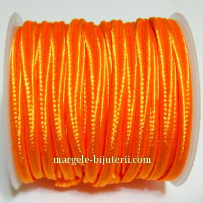 Snur Soutachee portocaliu intens, latime 2.5mm, rola 4 metri 1 buc