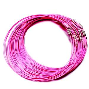 Baza colier, sarma siliconata, roz intens, cu inchizatoare 1 buc