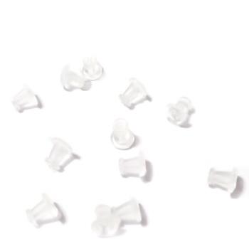 Dop cercei, plastic, 5x4mm 10 buc