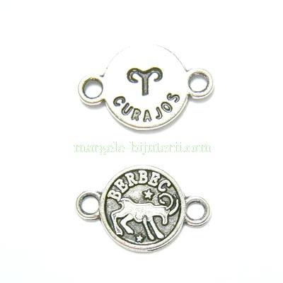Conector/link tibetan, zodiac, BERBEC, 15x10mm 1 buc