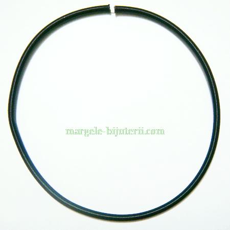 Fir silicon invelit in matase neagra, 460x5mm 1 buc