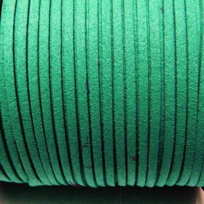 Snur faux suede, verde, grosime 3x1.5mm 1 m