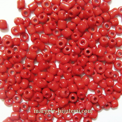 Margele nisip, grena, opace, 2mm 20 g