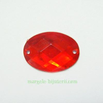 Aplice acrilice pentru cusut, multifete, rosii, 18x13x3.5mm 1 buc