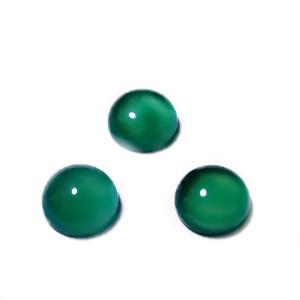 Cabochon agata verde, 10x5mm 1 buc