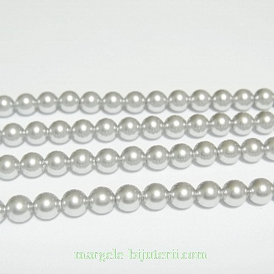 Swarovski Elements, Pearl 5810 Crystal Light Grey 4mm 1 buc