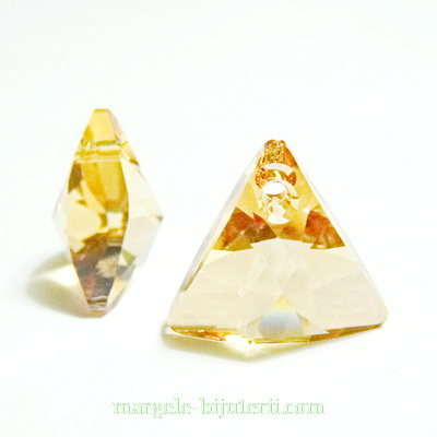 Swarovski Elements, Xilion Triangle 6628-Golden Shadow, 12mm 1 buc
