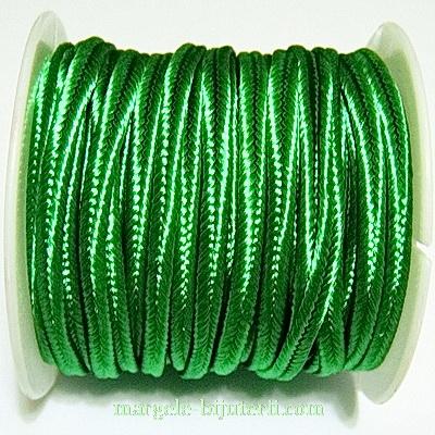 Snur Soutachee verde-smarald, latime 2.5mm- rola 4 metri 1 buc