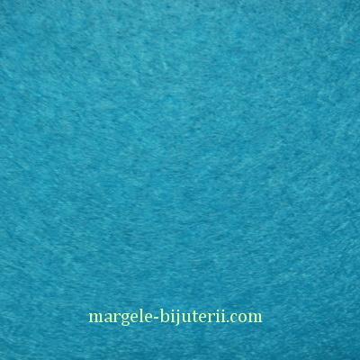 Fetru turcoaz inchis, 30x20cm, grosime 1mm 1 buc