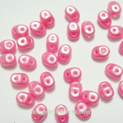 Margele Superduo 2,5x5mm, pastel color pink 2.5 x 5 mm 5 g