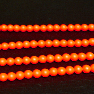 Swarovski Elements, Pearl 5810 Crystal Neon Orange 4mm 1 buc