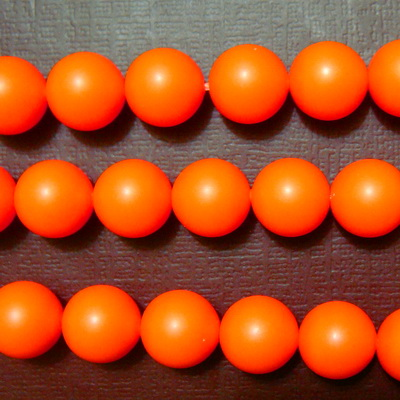Swarovski Elements, Pearl 5810 Crystal Neon Orange 8mm 1 buc