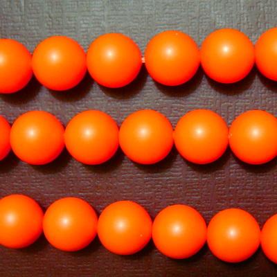 Swarovski Elements, Pearl 5810 Crystal Neon Orange 8mm 1 buc