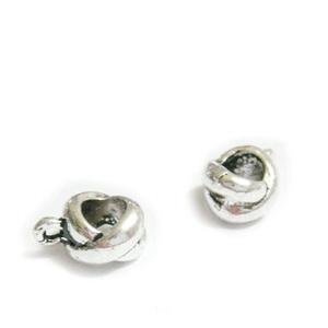 Agatatoare pandantiv, X, argint tibetan, 12x8x6mm, orificiu 5mm 1 buc