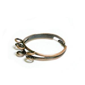 Baza inel, culoare cupru, 18mm-reglabina, cu 6 bucle 1 buc