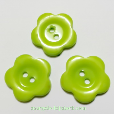 Nasturi plastic verde deschis, floare 22x2mm